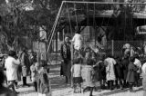 Israel, children at playground of Swedish school in Jerusalem