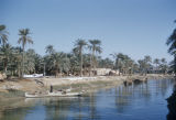 Basra (Iraq), view of canal and canal bank