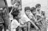 Malaysia, Semang children at village outside Fort Dixon