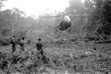 Malaysia, British Royal Navy helicopter airlifting soldiers