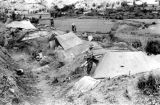 Laos, soldiers at camp in Xiangkhoang during First Indochina War