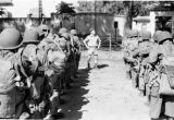 Vietnam, military officer directing troops during First Indochina War