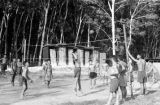 Malaysia, Gurkha soldiers playing volleyball at military camp