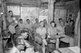 Vietnam, French officers gathered for briefing at Na Sản military base