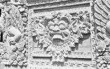 Indonesia, stone carvings on temple in Bali