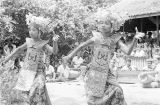 Indonesia, young dancers performing with orchestra in Bali