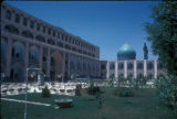Esfahan (Iran), courtyard with view of the Masjid-i-Imam (Royal Mosque)