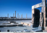 Persepolis (Iran), view of the Gate of All Nations (Gate of Xerxes) and columns