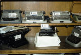 Russia, typewriters for sale at store in Moscow