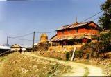 Pokhara (Nepal), view of a farm