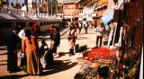 Kathmandu (Nepal), shops around the base of the Bodhnath Stupa