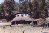 Pokhara (Nepal), round wattle and daub house along the trek