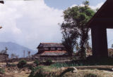Pokhara (Nepal), buildings and stone wall