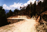 Nepal, dirt road along the mountainside
