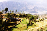 Pokhara (Nepal), view of farm along the mountainside
