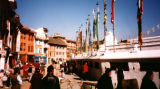 Kathmandu (Nepal), around the base of the Bodhnath Stupa