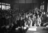 Taiwan, men sitting in a classroom