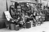 Hong Kong, shoemaker vendor on a street