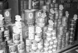 Hong Kong, display of canned and dry goods