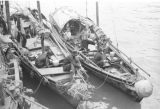 Hong Kong, families on their boats in a harbor