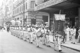 Hong Kong, band marching in funeral procession
