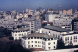 Japan, Tokyo cityscape with American Embassy in foreground