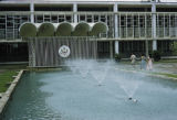 Indonesia, fountain in front of American Embassy in Jakarta
