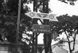 Vietnam, Rue des Teinturiers and a sign for Air Nippon, a Japanese airline