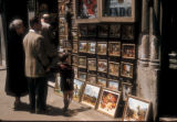 Istanbul (Turkey), framed artworks on commercial street in Galata
