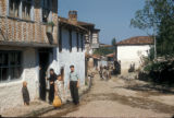 Cinarcik (Turkey), people in front of their home