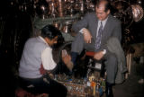 Istanbul (Turkey), shoe shining at the bazaar