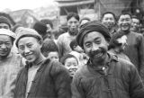 Chongqing (China), portrait of a group of people in the city