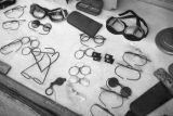 Moscow (Russia), eyeglasses in a store window