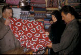 Cinarcik (Turkey), shopping in the fabric store
