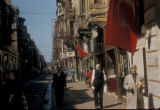 Istanbul (Turkey), commercial street in Galata suburb