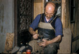 Istanbul (Turkey), shoemaker in Old City bazaar