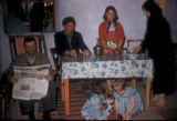 Cinarcik (Turkey), mayor with his family at home