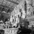 Luliang (China), Buddha sculptures and intricate detail of temple altar
