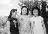 China, three young women posing