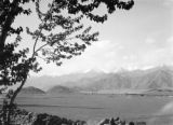 India, view of a large mountian basin