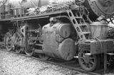 Nanjing (China), unused locomotive on tracks, evacuation during the Civil War of 1949