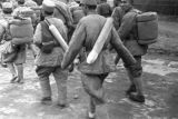 China, soldiers marching, Civil War of 1949