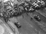 Shanghai (China), view of congestion and military blockade, Civil War of 1949
