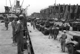 Shanghai (China), soldiers preparing American-made tanks for Nationalist retreat to Taiwan during...