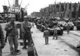 Shanghai (China), soldiers preparing equipment for evacuation during Civil War of 1949