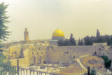 Jerusalem, view of Qubbat al-Sakhrah (Dome of the Rock) and the Western Wall