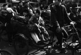 Shanghai (China), the streets of Shanghai are crowded with rickshaw traffic during the Civil War...