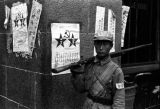 Shanghai (China), soldier of the People's Liberation Army after Shanghai came under control of the...