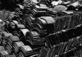 China, stacks of roof tiles