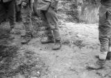 Changde (China), the boots and bare feet of Japanese soldiers taken prisoner by the Chinese after...